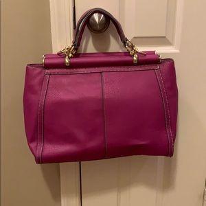 Magenta Top Handle Bag